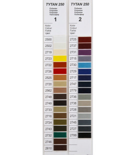 Katalog kolorów nici Tytan 250