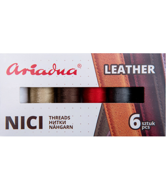 Zestaw Leather, Tytan 60E/120m 6 kol. (skóra)